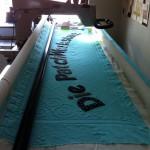 Das Banner auf der Longarm