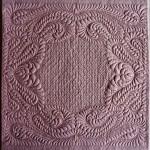 K. Dunkelgod Tea Rose-Wholecloth maschinengequiltet